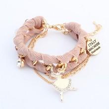 103943 friend 22k gold jewelry stainless steel bracelet