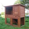 Wooden custom rabbit hutch with tray RH039