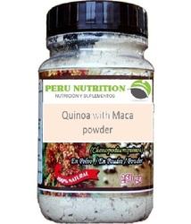 Quinoa whit maca powder