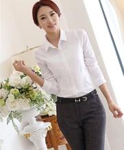 ladies fashion white blouse uniform