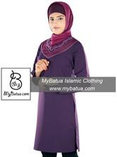 MyBatua Women's Islamic Tunic, Daily & Formal Wear Blouse, Muslim Ladies Top, Kurti KRF-094