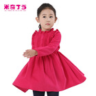 kids clothes wholesale china red colour dresses for baby girls of 10 years old wool dresses