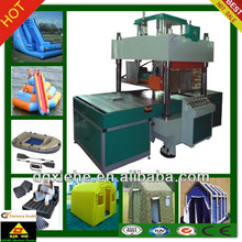 China dongguan factory direct sale/stretch tent fabric embossing welding machine /Automatic slipway style 8-15KW