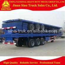 cargo semi trailer / 3 axle flatbed semi trailer for sale