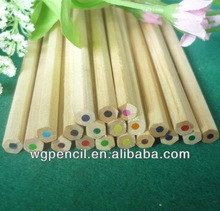 Promotional plain wooden 12 colored pencils in bulk best cheap wooden pencil drawing