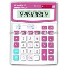 Large display dual power office desktop calculator12digits solar calculadoras