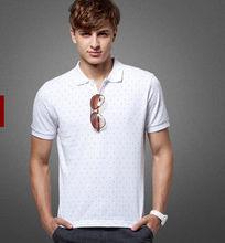custom made embroidered logo dot high quality polo shirt