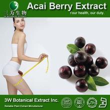GMP&ISO Food Grade Acai Extract 4:1, Power Slim Acai Berry, Acai Berry Extract 10:1