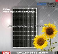 Sunpower solar panel,250W Mono celular solar for 1mw solar system project