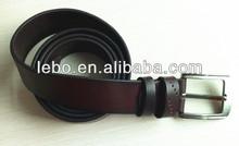 Top layer cowhide genuine leather men's belt pin buckle