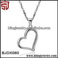 Bjdx080-2014 tibetano plata tono creativo topacio corazón collar encanto collar