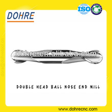 Uncoated Solid Carbide Double Head Ball Nose 2 Flutes Special End Mill