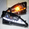 2006-2010 year Lexus IS250 LED Headlight Black Housing LED White and Yellow Color