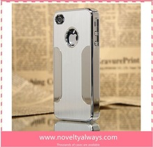 For Cool iphone 5 Case Metal Aluminium Cover Silver, Aluminum for iphone Case Hard Steel Shell