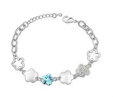 24 feminine daliy sweet style multiple flower wholesale jewerly girl bracelet