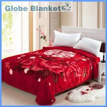Super soft deep red mink blanket