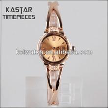Ladies stainless steel back geneva quartz watches