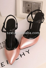 Sexy pearlized pink women high heel ladies shoes women pointed toe women shoes China factory shoes