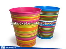 colorful small galvanized Gardening bucket