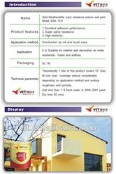 VIT color exterior emulsion paint,asian paints wall paint