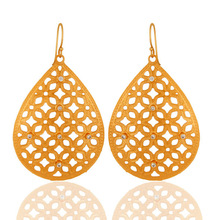 Unique Handcrafted Filigree Design Jewelry, 24Kt Gold Vermeil Drop Earring Jewelry