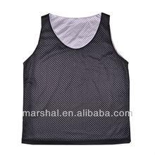 Black/White Double Mesh Reversible Kids Basketball Jersey