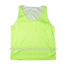 Double mesh basketball youth jersey cheap lime green/white kids basketball jersey