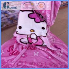 100% polyester raschel blanket with cat print