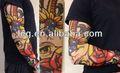 Rose& teschio stile temporanei falso nero del tatuaggio manica del braccio