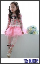 2014 Wholesale Children Clothing Factory Children's Boutique Clothing Kid Clothes Dresses For Girls of 7 Years Old