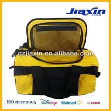 Waterproof tarpaulin duffel bag