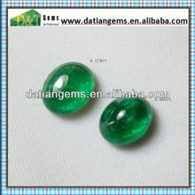 Green Glass Emerald Oval Cut Loose Precious For Unique Emerald Rings