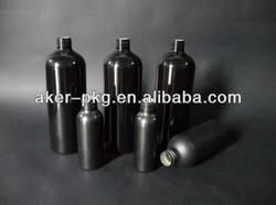 Epoxy Inner Coating Black Frosted Vodka aluminum Bottle