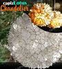 Capiz Shell Lotus Flower Chandelier