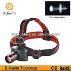 3W high power adjustable focus zoom led head lamp / headlamp