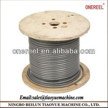 industrial wire on wooden spool