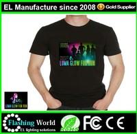 Sound controlled led t-shirt with fashion logo/men with custom logo