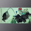 Plus récent célèbres peintures à l'huile de fleurs par l'artiste chinois