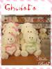 fangle stuffed plush toy lovely teddy bear with heart