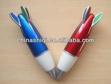 Cute fancy colorful rocket shaped ball pen