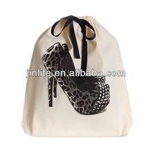 Promotion eco friendly Cotton Drawstring Shoe Bag