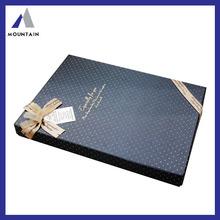 Mountain Custom Decorative Cheap Plain Mini Pretty Black Cardboard Box
