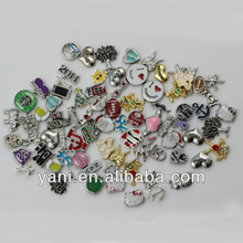 2015 Alloy metal bead landing fancy owl charms for costume jewelry spain hot sell glass locket