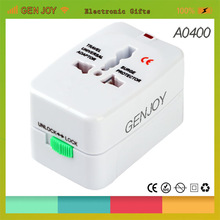 2014 shanghai Genjoy new promotional travel items flexible ups power plug socket travel adapter