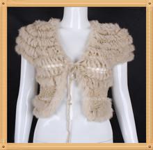 donne pelliccia di coniglio lavorato a maglia cappotto giacca abbigliamento