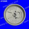 round aluminium 206# beverage beer easy open aluminium can lid
