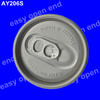 206 (57mm) round beverage easy open aluminium can lid,beer can easy open end