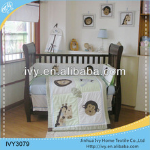 Applique embroidery kids twin canopy bed set