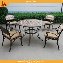 Garden dining set table fire fit set