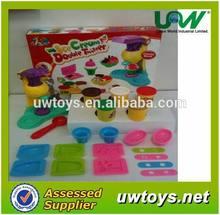 icecream making colorful play dough/plasticine, educational toys